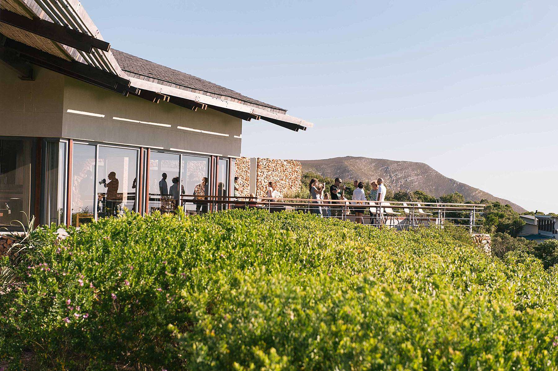 Relaxing after the drive, on the stoep at Grootbos (Angelique Smith Photography)
