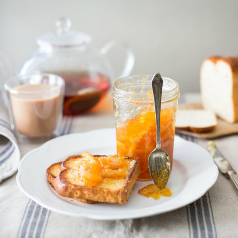 Orange marmalade on mosbolletjie toast (photography by Tasha Seccombe, styling by Nicola Pretorius)
