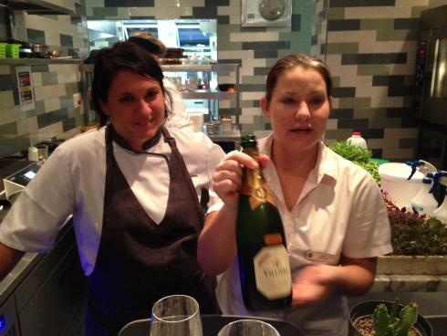 Chef Tanja Kruger and sommelier Esmé Groenewald.