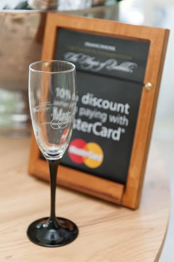 Your tasting glass, courtesy of Mastercard (image supplied by Tribeca PR)
