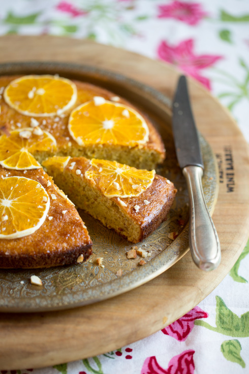 Orange, almond & olive oil cake (photography by Tasha Seccombe)