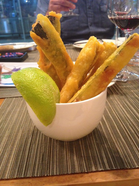 Zucchini fries at Terra del Capo tapas restaurant.