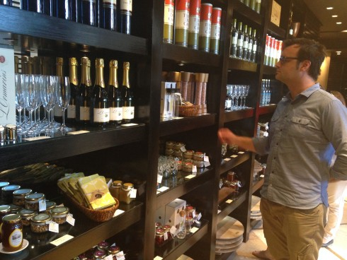 A wide variety of wines, oils, preserves an decor is available at the shop at Terra del Capo.