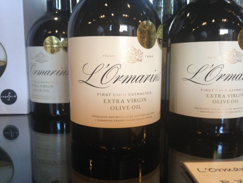The premium range extra virgin olive oil by L'Ormarins.