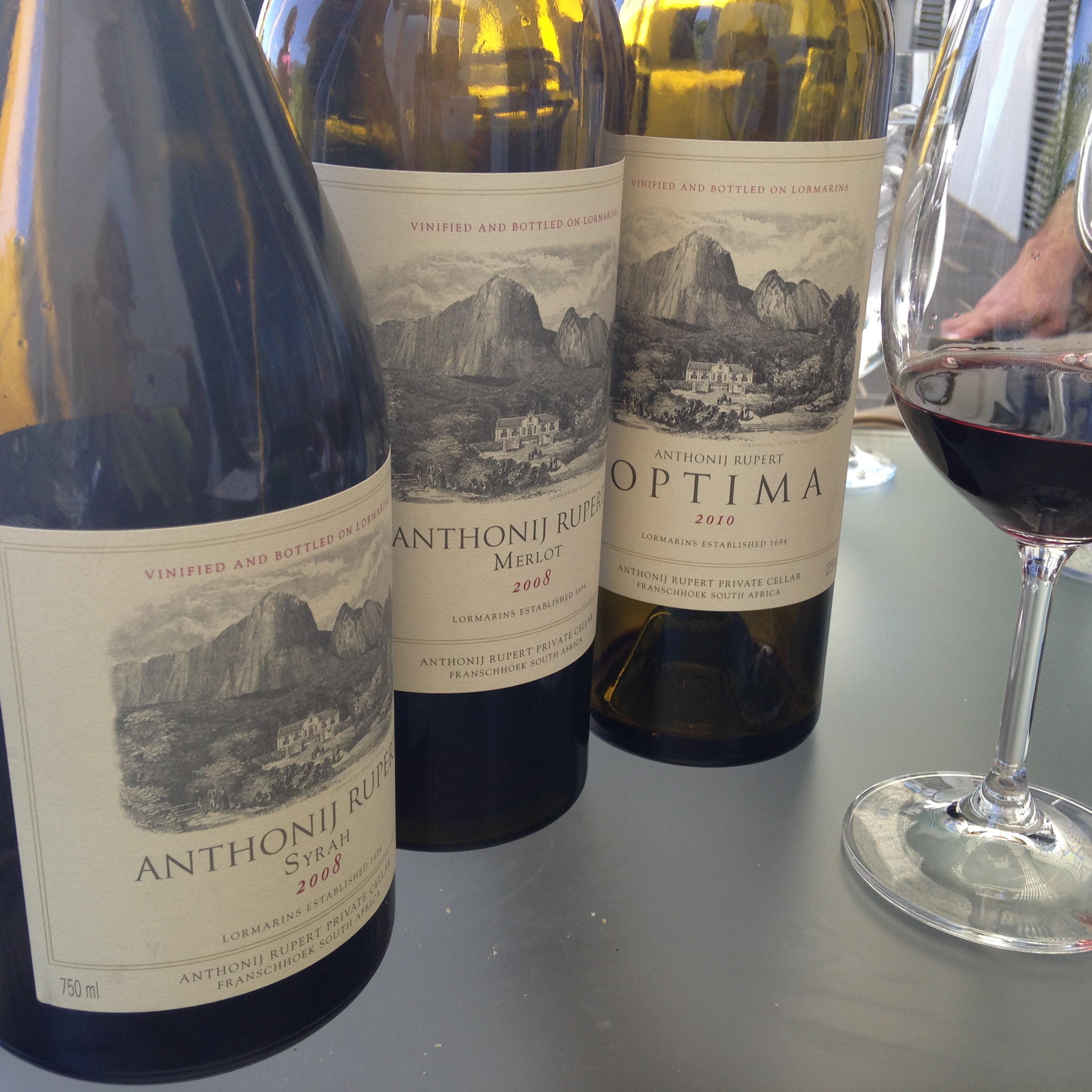 Three of the wines in the Antjonij Rupert range.