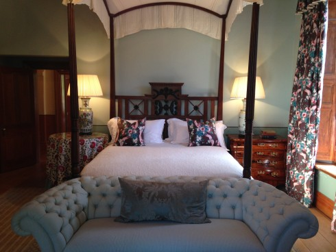One of the rooms inside the restored Manor House at Anthonij Rupert Wines.