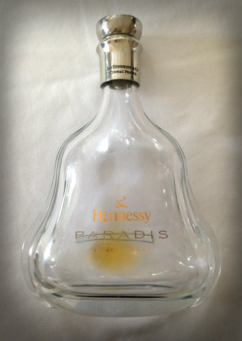 The bottle of Hennessy Paradis that we had the privilege of enjoying with our lunch, finished. It currently retails for R18 000-R19 000 per 750 ml.