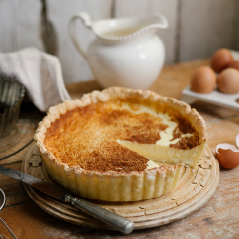Traditional baked milk tart (photography by Tasha Seccombe)