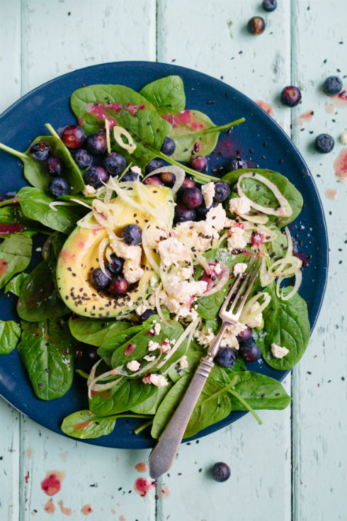 Avo blueberry salad