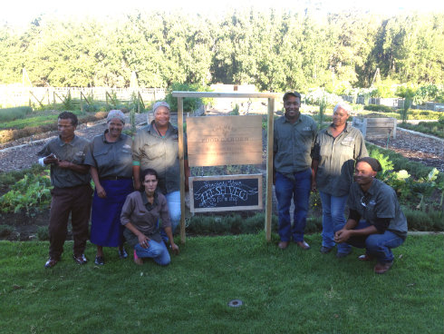 The garden team, responsible for a magnificent variety of produce.